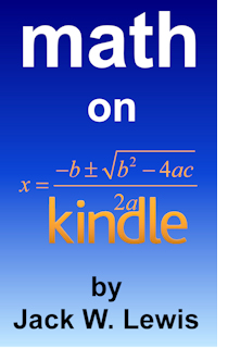 Math on Kindle Cover